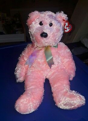 Large collectable T.Y bear  (sherbet)