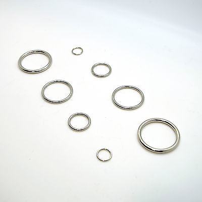 Metal O Rings Collars Buckles Straps for Webbing Strap Tape Craft 12mm - 40mm