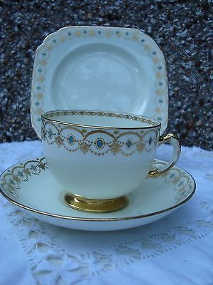 Royal tuscan bone china Trio tea set used