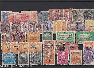 Nicaragua  Early Stamps On Large Stock Card  Ref 1078