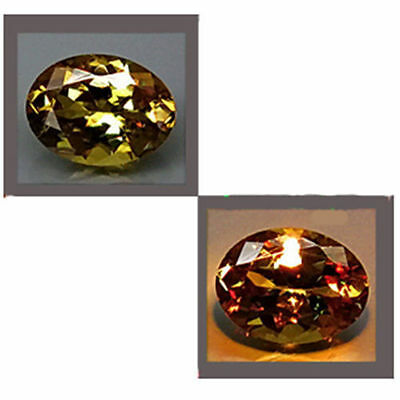 0.53Cts EXCLUSIVE Best Gem - Natural Olive Yellow 2 Red COLOR CHANGE GARNET QW56