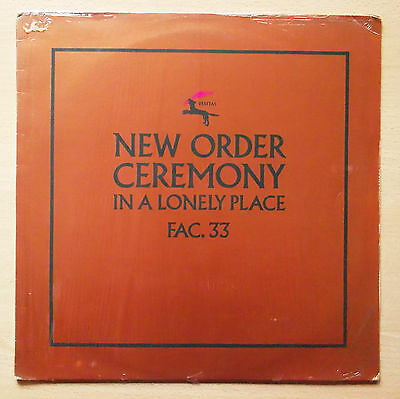 "NEW ORDER Ceremony LP 12"" Single 45 RPM Copper Metallic Sleeve FAC 33/12"