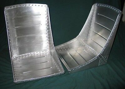A beautiful pair (2) of WWII style aircraft bomber seats,