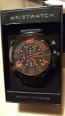Men's NEW GT Grand Touring Watch- Black/Red in Presentation Box