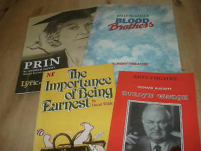JOBLOT OF 4 VINTAGE THEATRE PROGRAMMES - 1980's including Blood Brothers