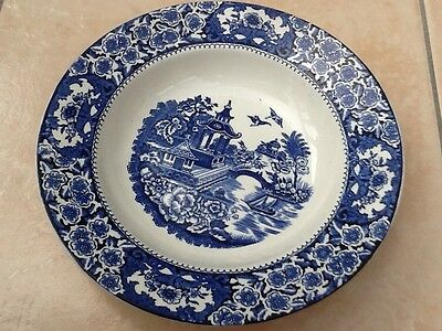 Olde Alton Ware Staffordshire  Blue Willows Soup Bowl
