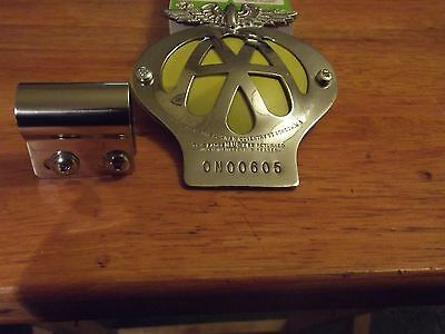 A Classic Car A.a. Badge In Very Good Condition, With Bar Fixing Clip.
