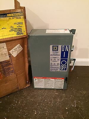 NEW Square D PQ3606G. 60 amp, 600 volt, bus plug, 3 wire, with ground, NIB