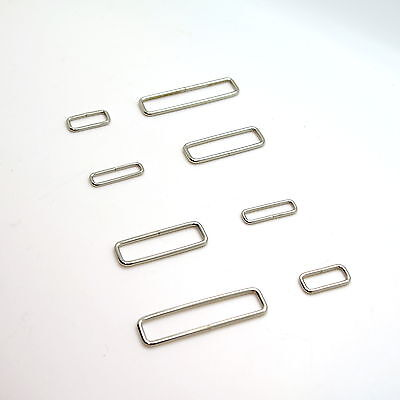 Metal Rectangle Loop Rings Wire Formed Buckles for Webbing Strap Tape 20 - 55 mm