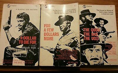 Tandem Western Novels x 3 very old