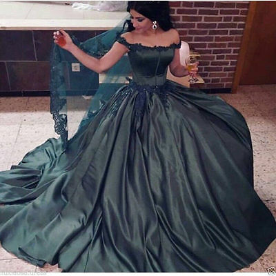 Black Off-the-shoulder Quinceanera Wedding Dress Arabic Evening Dress Custom