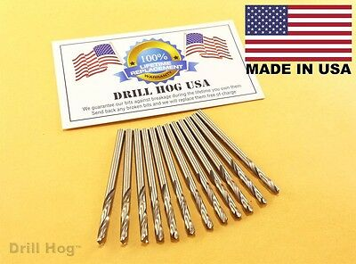 "1/8"" Stubby Cobalt M42 Drill Bits Stub Drill Length Machine Screw Drill Hog USA"