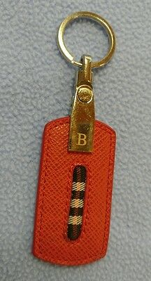 Burberrys Key Ring~Red Leather