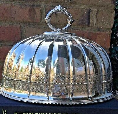 Antique English Silver Meat Dome Cover