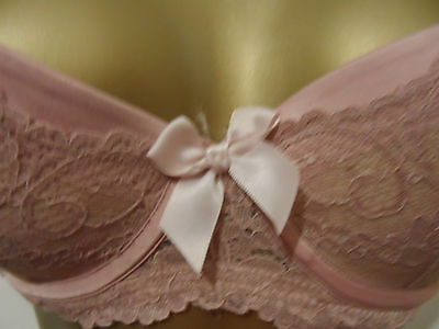 Secret Possessions Push Up  Under Wired Bra Dusky Pink 32B Uk Vgc