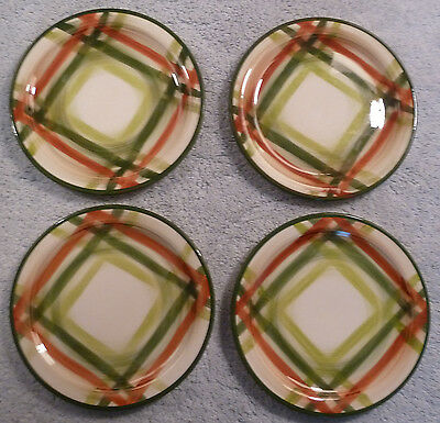 4 vintage mid-century Metlox Vernonware TAM O'SHANTER bread and butter plates