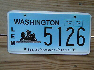 Washington License Plate Tag Number 5126 Classic Wa Special Law Enforcement