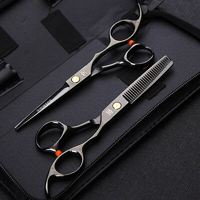 Professional Japan Hair Scissors 6.0/5.5 inch Barber Hairdressing Cutting Thinni