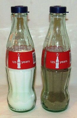 Coca-Cola Red Label 125 Years Coke Bottle Salt & Pepper Set Shakers