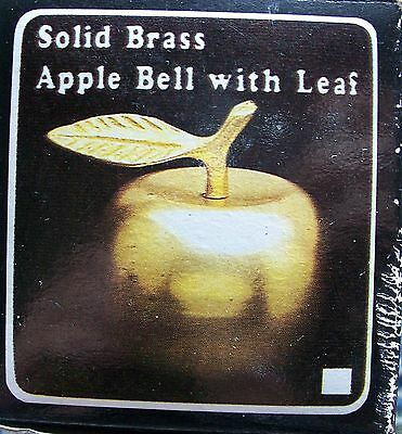 Solid Brass Golden Apple Bell with Leaf Teachers Bell Gift New