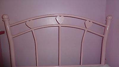 Girls Pink Single Bed with Mattress