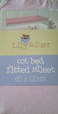 New Baby Pink Cot Bed Fitted Sheet 60 X 120 Cm Soft Touch Cotton