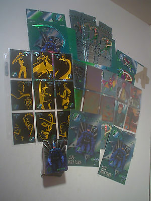 1995 Metal Batman Forever ~ 100 Card Set + 23 Chase Cards, Promo Sheets & More