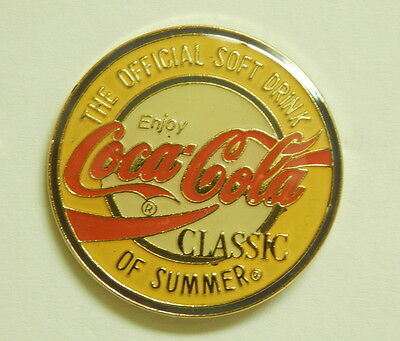 Coca-Cola pins, 10 different, 1980's and 1990's