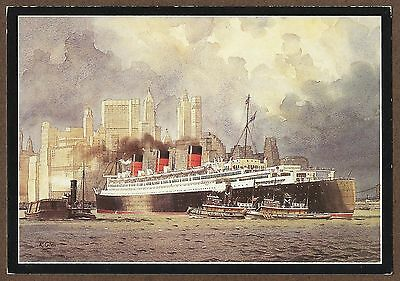 Modern Postcard Of Rms Queen Mary In New York