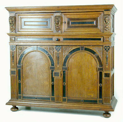 B610 Large Early 19th Century French Carved Oak Hall Cabinet, Sideboard