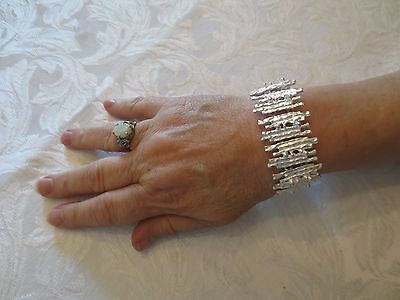 Taxco Mexico Silver Icicle Design Bracelet