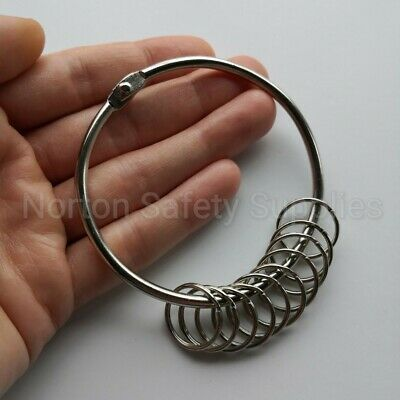 Extra Large (76mm) 10 x Multi-Ring Jailers Fob / Keyring / Split Ring (FREE P&P)