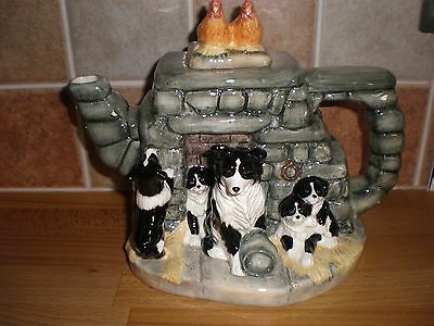 James Herriot's Country Kitchen Jock's Pride Teapot Border Collies A0461