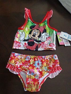 NWT Disney MINNIE MOUSE  Girls Toddler FLORAL 2 pc TANKINI SIZE 5T