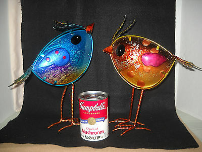 Very Whimsical Colored Glass & Copper Bird Figures.  Only Ones I've Ever Seen