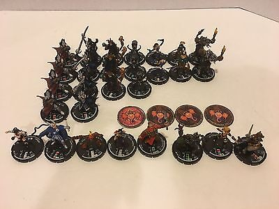 Mage knight Miniatures dungeon lot of 28 see pictures from 2002 and 2003 WizKids