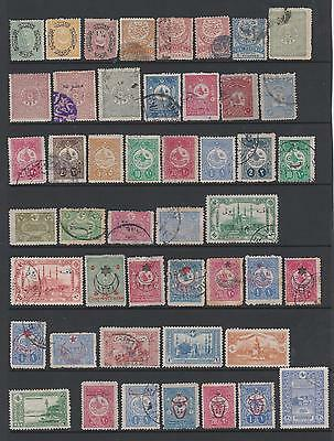 Turkey  from 'oldies'  collection of 160 mint & used stamps on 4 pages