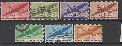 USA 1941 Air -- SG A901-907 -    used set of 7
