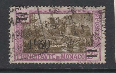 Monaco 1926  - SG112   Surcharged -  used