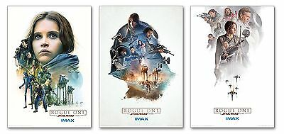 Official- Rogue One:A Star Wars Story Limited Edition set of all 3 IMAX Posters