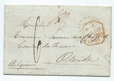 Eb91. 1848 French Consulate Liverpool to French consul Ostende.