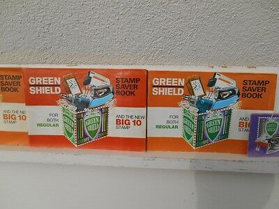 Vintage Green Shield Stamp Books, 8 In Total.