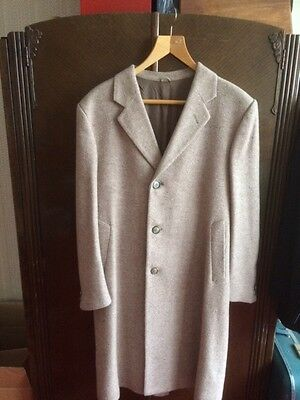Mens vintage 1980s tweed style overcoat (Warrenton Turnpike)