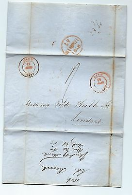 Eb97. 1848 entire Gent to famous bankers Huth in London.