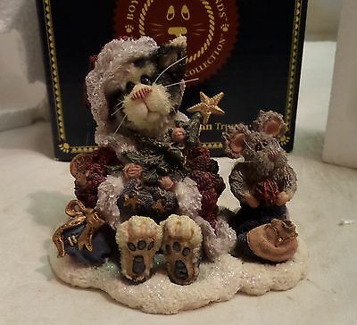 Boyds Purrstone Figurine Santa Claws & Nibbles... A Purrfect Holiday 371003