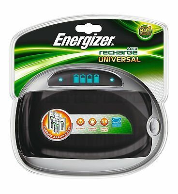 Energizer Universal Rechargable AA AAA C D 9V Battery Charger charge ENERUNIVCHG