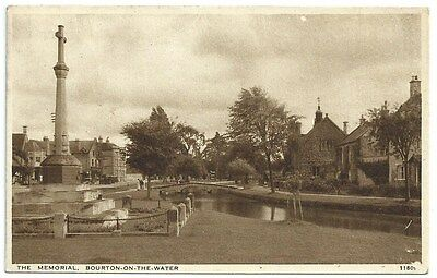 Vintage Postcard. The Memorial, Bourton-on-the-Water. Used 1943.  Ref:71226