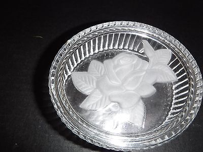 Cut glass jewelry bowl