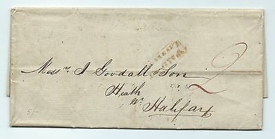 Eb110. 1842 entire Liverpool-Halifax with PAID AT LIVERPOOL stamp.