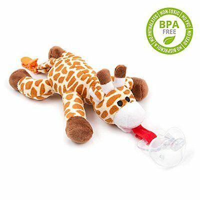 Pacifier Holder clips Giraffe Plush Toy Suspender Dummy Soother Free Shipping